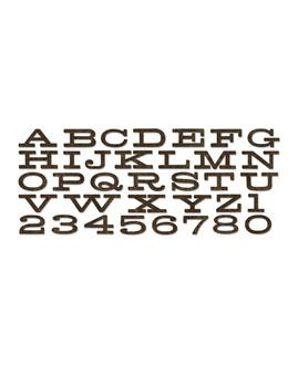 Tim Holtz® Alterations by Sizzix - Bigz™ Dies - XL Alphabet Die - Billboard