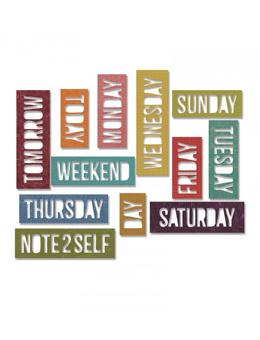 Tim Holtz® Alterations by Sizzix Thinlits™ Dies - Daily Words - Block, 12pk Cutting Dies Tim Holtz Other