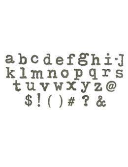 Tim Holtz® Alterations by Sizzix - Bigz™ Dies - XL Alphabet Die - Typo Lowercase