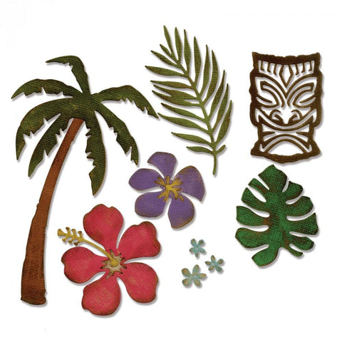 Tim Holtz® Alterations by Sizzix Thinlits™ Dies - Tropical Cutting Dies Tim Holtz Other