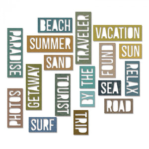 Tim Holtz® Alterations by Sizzix Thinlits™ Dies - Vacation Words - Block, 18pk Cutting Dies Tim Holtz Other
