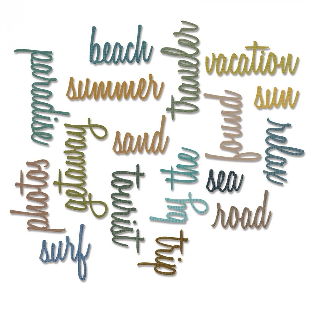 Tim Holtz® Alterations by Sizzix Thinlits™ Dies - Vacation Words - Script, 18pk