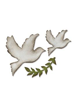 Tim Holtz® Alterations by Sizzix - Bigz™ Dies - Enchanted Doves Cutting Dies Tim Holtz Other