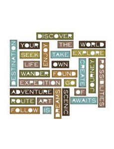 Tim Holtz® Alterations by Sizzix Thinlits™ Dies - Thin Traveler Words, 27pk Cutting Dies Tim Holtz Other