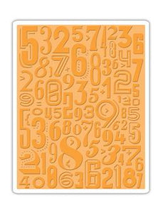 Tim Holtz® Alterations by Sizzix - Texture Fades - Numeric Sizzix Tim Holtz Other