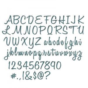 "Tim Holtz® Alterations by Sizzix Thinlits™ Dies - Alphanumeric - Script 69pk, 1"" Tall Cutting Dies Tim Holtz Other"