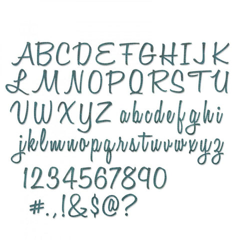 "Tim Holtz® Alterations by Sizzix Thinlits™ Dies - Alphanumeric - Script 69pk, 1"" Tall"