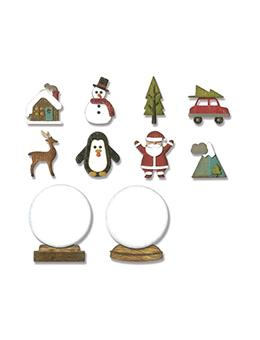 Alterations by Sizzix Thinlit Die Set 11pk - Tiny Snowglobe Thinlits Die Cuts Tim Holtz Other