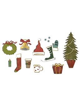 Sizzix® Thinlits™ Die Set 12PK - Festive Things by Tim Holtz® Sizzlits Die Cuts Tim Holtz Other