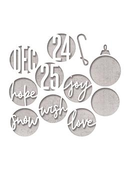 Sizzix® Thinlits™ Die Set 12PK – Circle Words, Christmas by Tim Holtz® Thinlits Die Cuts Tim Holtz Other