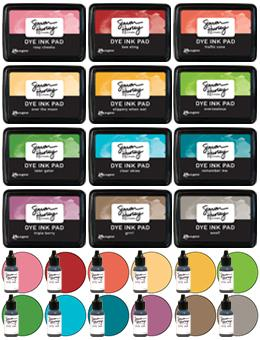 Simon Hurley create. Original 12 Ink Pads with Re-Inkers Bundle Bundles Simon Hurley