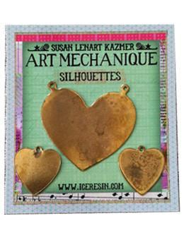Brass Hearts Silhouettes, 3 pcs. Silhouettes ICE Resin®