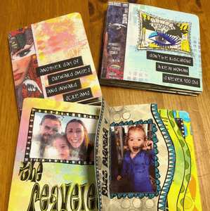 Magical Mini Book Weekend at Stampers Anonymous Workshop Dylusions
