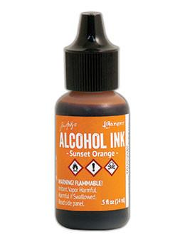 Tim Holtz® Alcohol Ink Sunset Orange, 0.5oz Ink Alcohol Ink