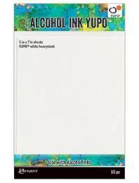 Tim Holtz® Alcohol Ink Yupo® Heavystock 5 x 7, 10pcs Surfaces Alcohol Ink
