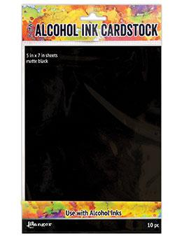 Tim Holtz® Alcohol Ink Cardstock Black Matte, 10pc