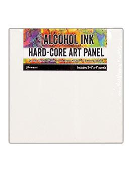 "Tim Holtz® Hard-Core Art Panel (4"" x 4"") 3pk Surfaces Alcohol Ink"