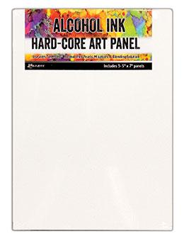 "Tim Holtz® Hard-Core Art Panel (5"" x 7"") 3pk Surfaces Alcohol Ink"