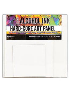 Tim Holtz® Hard-Core Art Panel Square 3pk Surfaces Alcohol Ink