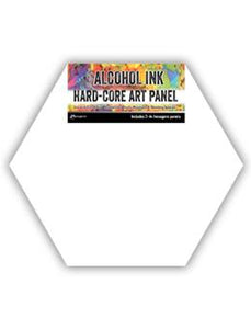"Tim Holtz® Hard-Core Art Panel 4"" Hexagons, 3pk Surfaces Alcohol Ink"