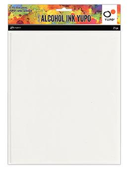Tim Holtz® Alcohol Ink Yupo® White Cardstock 8 x 10,  25pk.