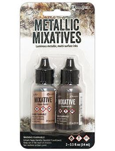 Tim Holtz® Mixatives™ Rose Gold & Gunmetal Kit, 0.5oz Kits Alcohol Ink