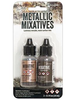 NEW! Tim Holtz® Mixatives™ Rose Gold & Gunmetal Kit, 0.5oz