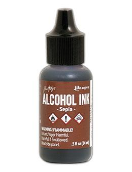 NEW! Tim Holtz® Alcohol Ink Sepia, 0.5oz