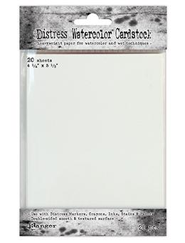 "TH Distress® Watercolor Cardstock 4.25"" x 5.5"", 20pc Surfaces Distress"