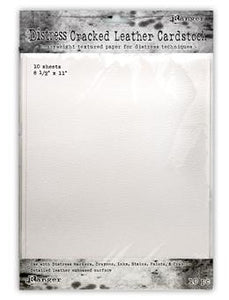 "Tim Holtz Distress® Cracked Leather Paper Cardstock 8.5"" x 11"", 10pc Surfaces Distress"
