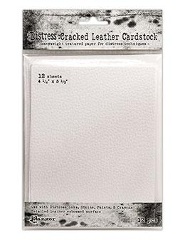 "Tim Holtz Distress® Cracked Leather Paper Cardstock 4.25"" x 5.5"", 12pc Surfaces Distress"