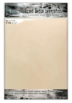 "Distress® Mixed Media Heavystock 8.5"" x 11"", 10pk Surfaces Distress"