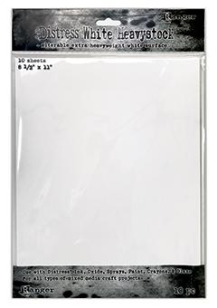 "Distress® White Heavystock 8.5"" x 11"", 10pk Surfaces Distress"
