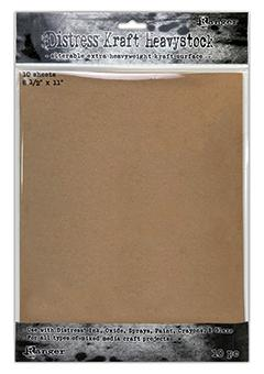 "Distress® Kraft Heavystock 8.5"" x 11"", 10pk Surfaces Distress"