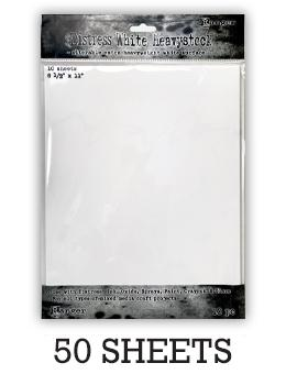 "Distress® White Heavystock 8.5"" x 11"", 50pk Surfaces Distress"