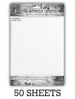 "Distress® Watercolor Cardstock 8.5"" x 11"", 50pk Surfaces Distress"