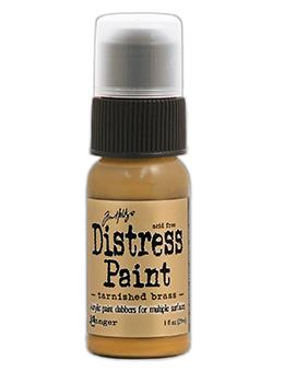Tim Holtz Distress® Dabber Paint Tarnished Brass, 1oz Paint Tim Holtz