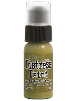 Tim Holtz Distress® Dabber Paint Crushed Olive, 1oz Paint Tim Holtz