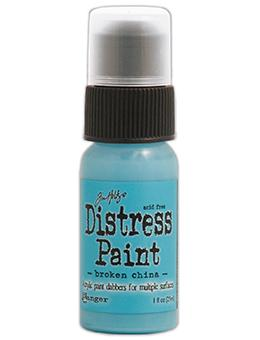 Tim Holtz Distress® Dabber Paint Broken China, 1oz Paint Tim Holtz