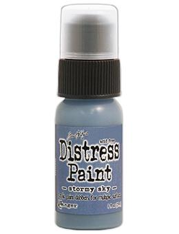 Tim Holtz Distress® Dabber Paint Stormy Sky, 1oz Paint Tim Holtz