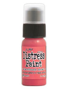 Tim Holtz Distress® Dabber Paint Abandoned Coral, 1oz