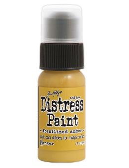 Tim Holtz Distress® Dabber Paint Fossilized Amber, 1oz Paint Tim Holtz