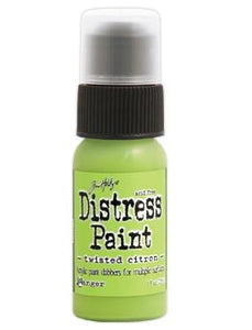 Tim Holtz Distress® Dabber Paint Twisted Citron, 1oz Paint Tim Holtz