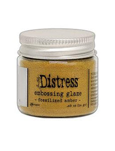 Tim Holtz® Distress Embossing Glaze Fossilized Amber Powders Distress