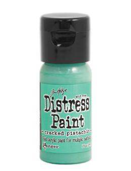 Tim Holtz Distress® Flip Top Paint Cracked Pistachio, 1oz Paint Tim Holtz