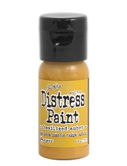Tim Holtz Distress® Flip Top Paint Fossilized Amber, 1oz