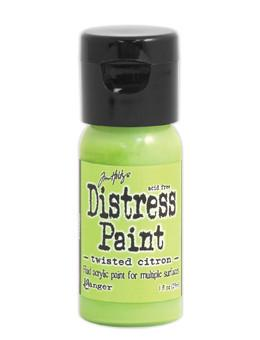 Tim Holtz Distress® Flip Top Paint Twisted Citron, 1oz Paint Tim Holtz