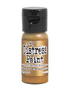 Tim Holtz Distress® Flip Top Paint Tarnished Brass, 1oz