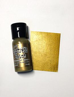 Tim Holtz Distress® Flip Top Paint Tarnished Brass, 1oz Paint Tim Holtz