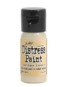 Tim Holtz Distress® Flip Top Paint Antique Linen, 1oz Paint Tim Holtz